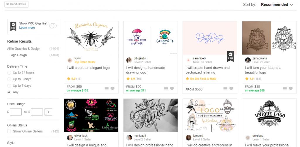 Logos en Fiverr