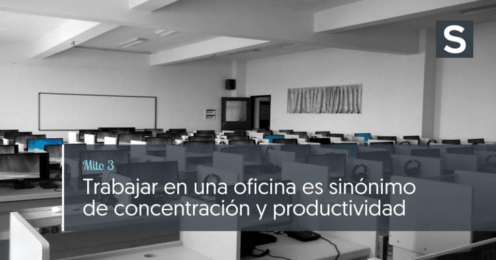 Trabajar en una oficina es sinónimo de concentración y productividad