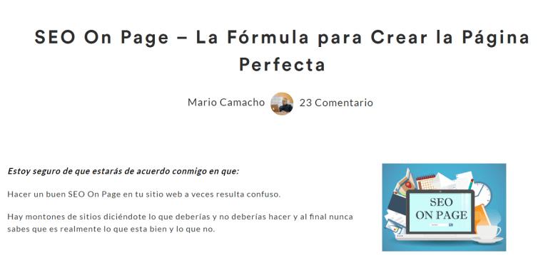 Crear una pagina perfecta