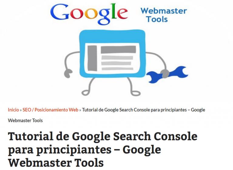 Tutorial Search Console