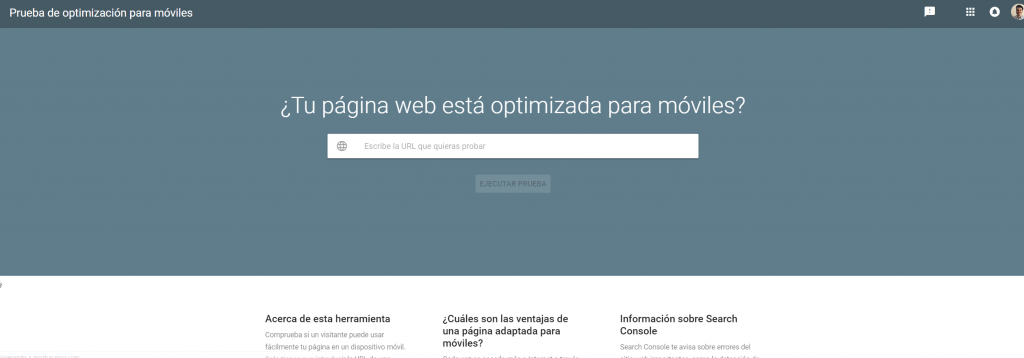 Search Mobile Friendly de Google